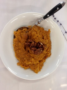Sweet potato puree with pecans served at Bonnie Health Estate