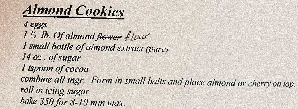 Amaretti recipe